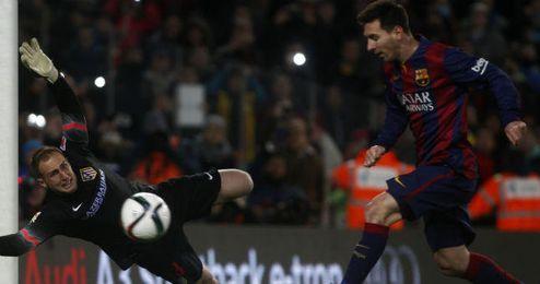 El Atlético espera superar la ventaja que le otorga al Barcelona el gol de Messi en la ida.