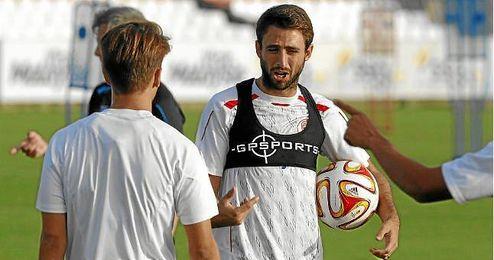 Nico Pareja, durante un entrenamiento.