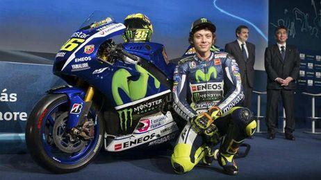 Valentino Rossi en la presentación de su nueva moto