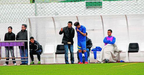El entrenador Juan Ramón Martín en un partido de esta temporada.