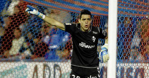 Jaime, en el partido contra el Levante.