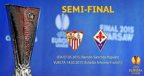 Imagen del emparejamiento entre el Sevilla y la Fiorentina.
