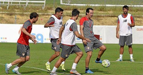 David Soria, y José Antonio Caro y Matos se entrenaron con el primer equipo.