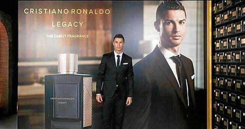 El jugador en la presentaci�n de su nueva fragancia, 'Legacy'.