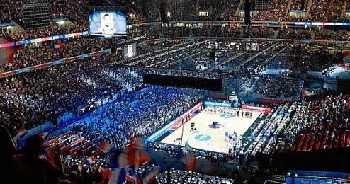 Imagen del Estadio durante el Francia-Turquía.