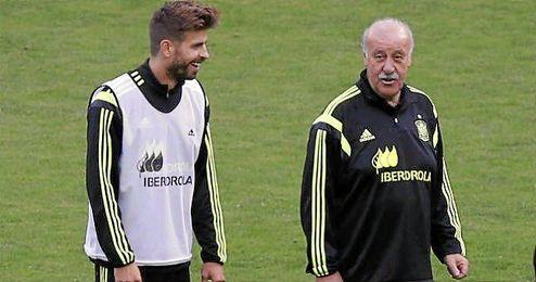 El seleccionador ha defendido a Piqué.