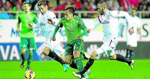 Imagen del Sevilla-Celta de la temporada pasada, en el que Pareja decantó el partido.