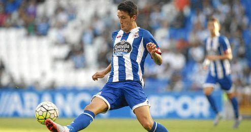 Luis Alberto jugando con el Deportivo.