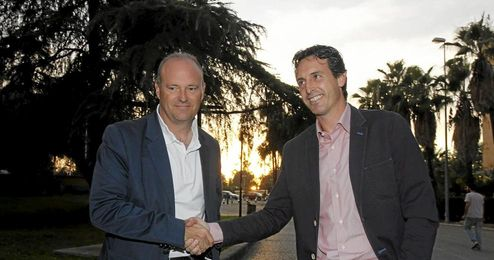 Pepe Mel y Emery mantiene una cordial relaci�n.