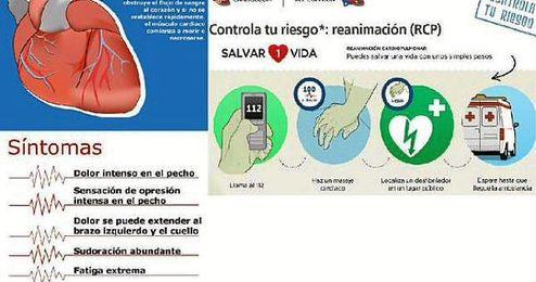 La Guardia Civil aconseja en el #DíaMundialdelCorazón cuatro recomendaciones que seguir en caso de infarto.
