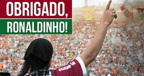 El club brasileño ha dado las gracias a Ronaldinho a través de las redes sociales y un comunicado oficial.