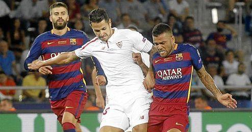 La Supercopa de España de 2010 ha sido la última vez que en la que el Sevilla se ha impuesto al Barcelona.