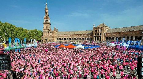 Una vez m�s, Sevilla se ti�� de rosa.