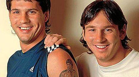 El crack del Barça, junto a su hermano Matías.