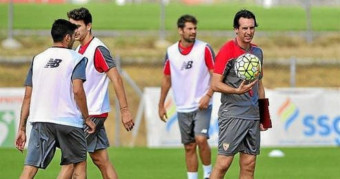Emery, en una sesi�n de entrenamiento.