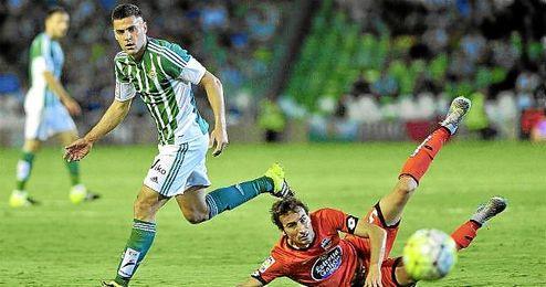 Bruno, en un lance del Betis-Deportivo.