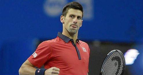 Djokovic celebra un punto en el partido ante Ferrer.