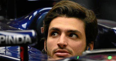 Carlos Sainz, en su Toro Rosso.