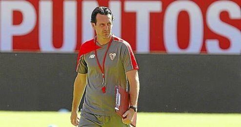 Emery, durante un entrenamiento.