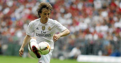 Modric, durante un partido con el Real Madrid.