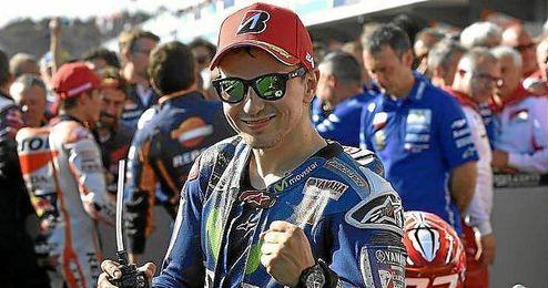 Lorenzo, feliz en Australia tras lograr la segunda posici�n.