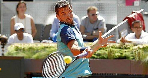 Dimitrov en el Open de Madrid.