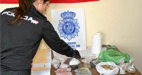 Material incautado en una operación policial.
