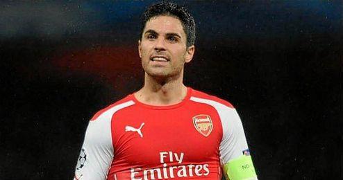 Mikel Arteta, jugador del Arsenal.