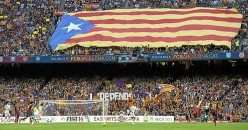 Las esteladas podrían presidir hoy el Camp Nou.