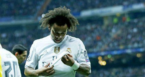 Marcelo se retiró ayer lesionado y tiene difícil llegar al partido contra el Sevilla.