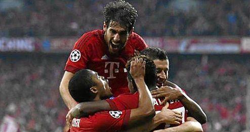 En la imagen, el Bayern celebrando su victoria contra el Arsenal, 5-1.