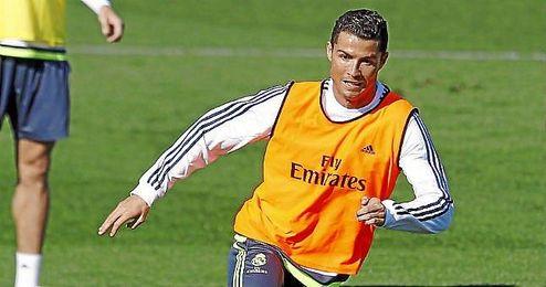 Ronaldo durante un entrenamiento.