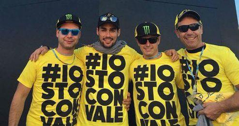Fognini ha mostrado su apoyo a Rossi en Valencia.