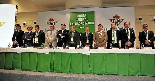 Imagen de la pasada Junta General Extraordinaria de Accionistas del Betis.