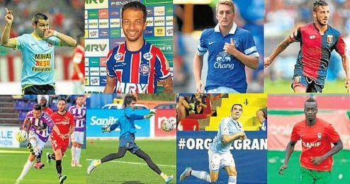 Algunos de los descartes del Sevilla para esta temporada.