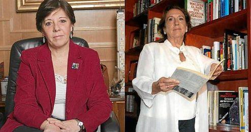 Carmen del Riego y Victoria Prego, las dos candidatas.
