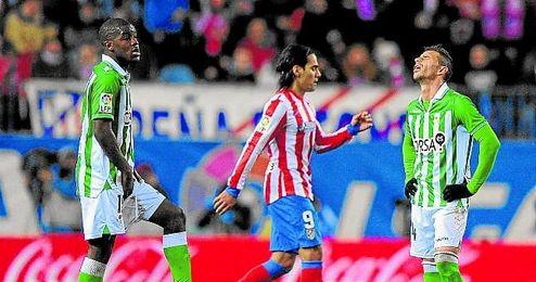 Rubén Castro no le ha ganado al Atlético como bético.