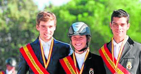 Álvaro Millán, Cristina Brome y Rafael Carrillo subieron al podio en La Dehesa de Madrid.