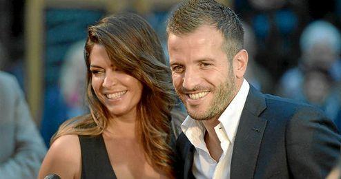 Sabia Boulahrouz y van der Vaart durante su noviazgo.