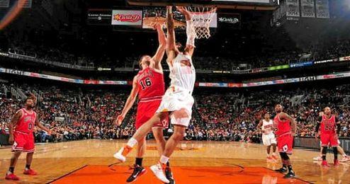Pau Gasol, clave en el triunfo de los Bulls.