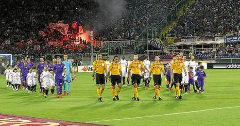 Skomina dirigió el Fiorentina-Sevilla de la 14/15.
