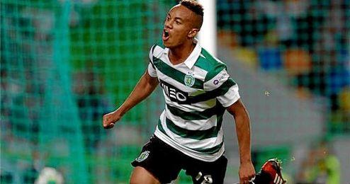 Andr� Carrillo, jugador del Sporting de Portugal.