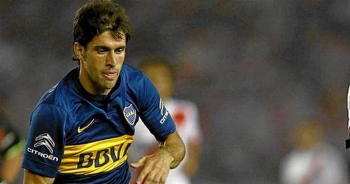 El futbolista, con la camisola del equipo argentino.