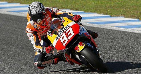 Márquez fue el más rápido de su equipo.