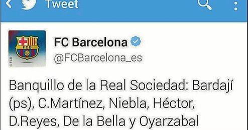 El Barça confunde a Bruma con Niebla