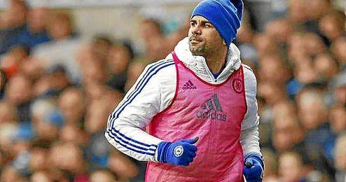 Diego Costa calentó y se quedó sin jugar en White Hart Lane.