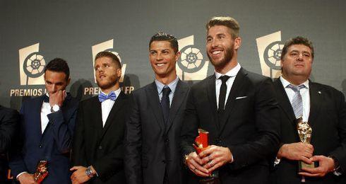 Sergio Ramos en la gala de la LFP.