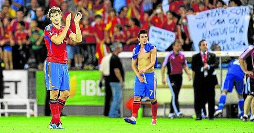 Fernando Llorente fue ovacionado por Las Gaunas en un España-Liechtenstein (6-0) de 2011.