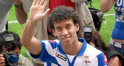 Roderick Miranda, en su presentación como jugador del Deportivo de la Coruña.