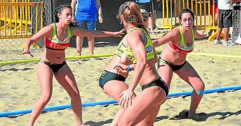 Imagen del conjunto femenino de Balonmano Playa Sevilla.